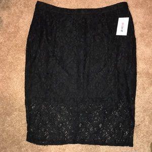Justfab Lace Pencil Skirt